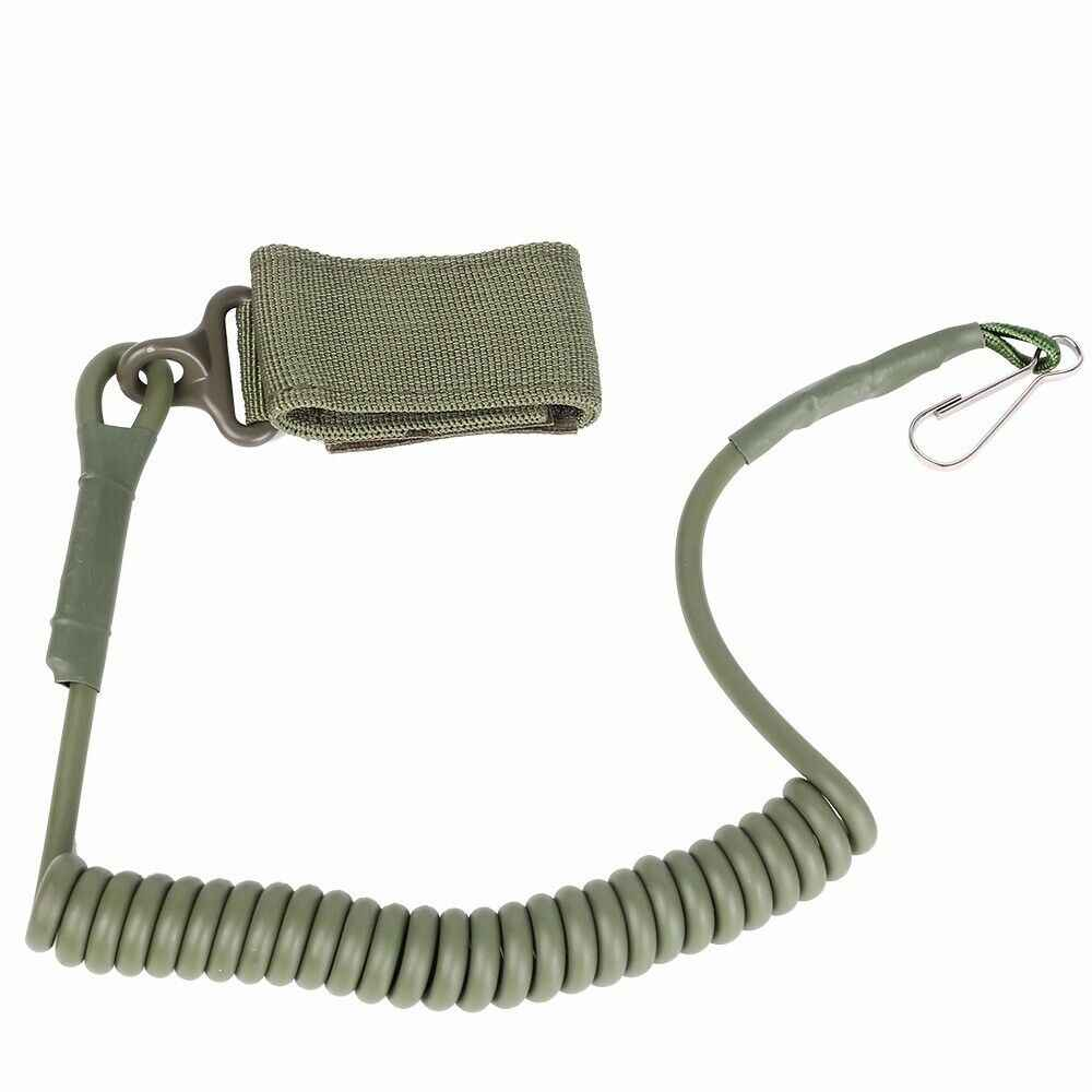 EDC Molle Airsoft Spring Sling Tali Satu Titik Pistol Spring Sling Rilis Cepat Berburu Tali Tentara Kunci Tali 3 warna