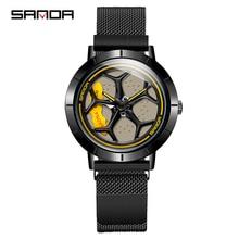 2020 Hot Sell Fashion Cool Men Watch SportsCar Rotating Dial Wheel Wristwatch Waterproof Magnet Buckle Quartz Movement Gift 1022