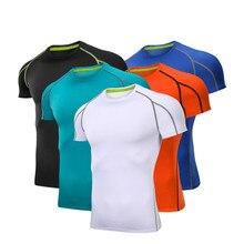 Мужская спортивная футболка с круглым вырезом для тренировок и бега, Быстросохнущий дышащий свитшот для тренировки, впитывающая влагу футболка для бега