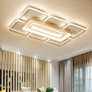 Image 4 - Современные квадратные потолочные светодиодные светильники, домашние лампы белого и кофейного цвета для гостиной, спальни, 110 260 В переменного тока