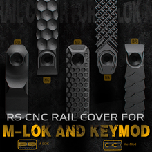 Aluminum Alloy RS CNC Handguard Rail Cover For M-lok and Keymod Long and Short Version Railscales Hunting Softair Gun Accessory(China)