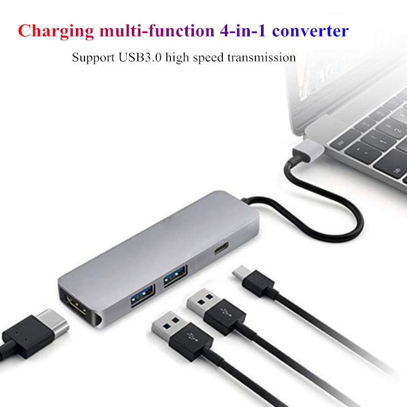 USB3.0 HUB Docking dock Type C to HDMI Adapter For smart phone Computer HDTV  Laptop U disk hard disk USB-C PD fast charging