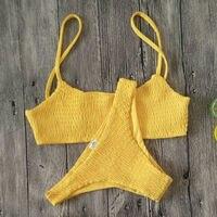 New Hot Sale Sexy Women Push-up Padded Bra Bikini Set Pleated Swimsuit Swimwear Swimming Beach Bathing Costume Bikini Set 1