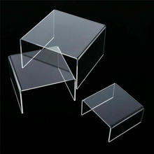 3 pçs acrílico destacável escada quadro perfume jóias exibição rack escada transparente prateleira loja ferramentas de exibição