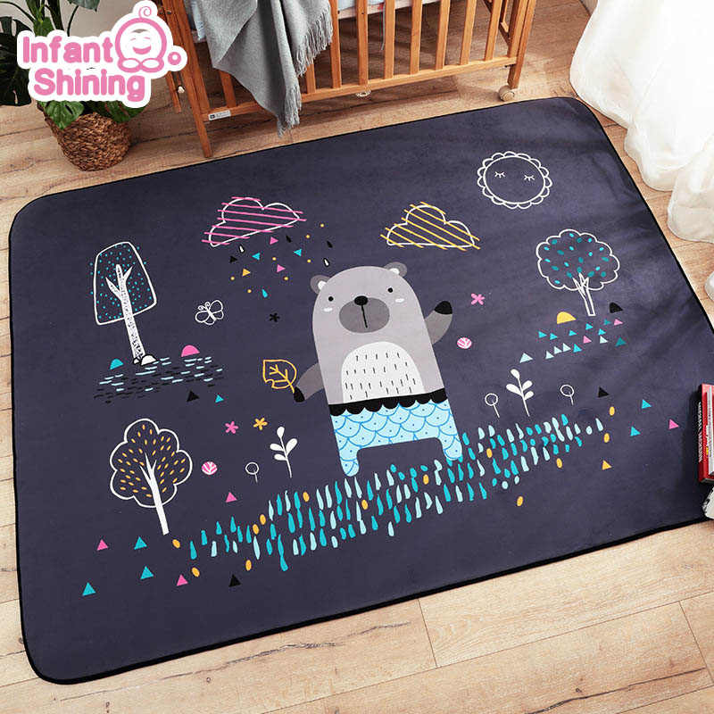 Infant Shining Baby Play Mat Children Puzzle Cartoon Carpet Suede Large Rugs Living Room Mat Children Bedroom Thicken Blanket Baby Play Mat Play Matbaby Play Aliexpress