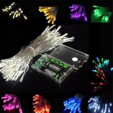 Светодиодный светильник-гирлянда на батарейках 1 м/2 м/5 м/10 м, Рождественский праздничный светильник, s светильник-гирлянда/Свадьба/украшение, светодиодный светильник на батарейках