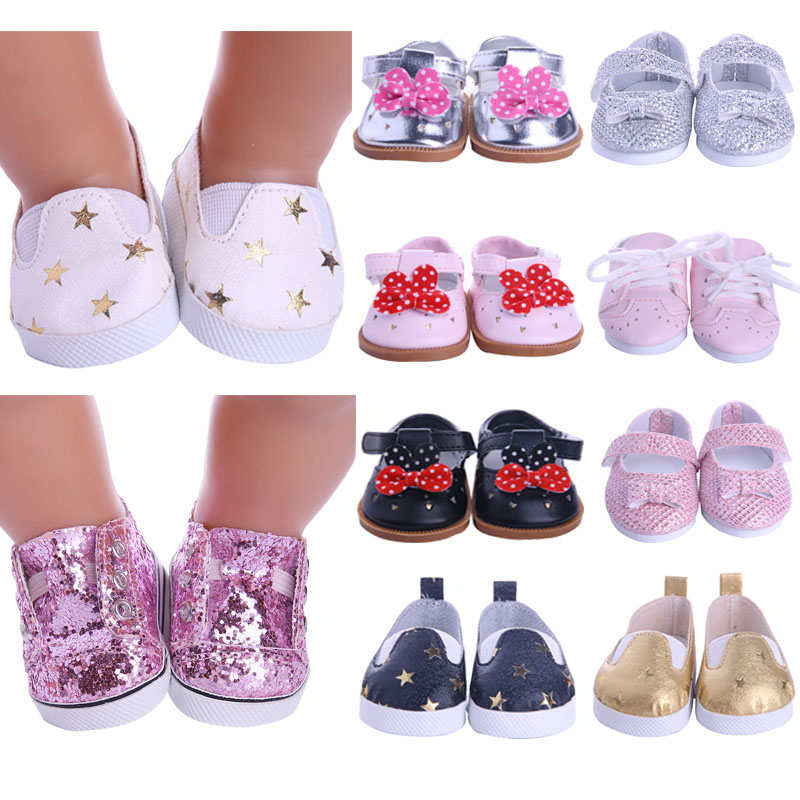 Doll Shoes Handmade Boots 7 Cm Doll Shoes For 18 Inch American &43 Cm Baby New Born Doll Accessories For Our Generation Girl`Toy