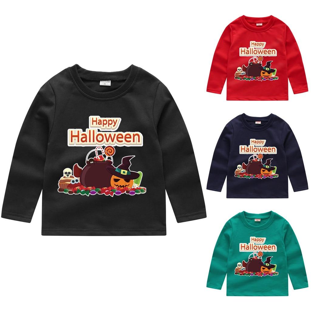 Sweatshirt Kids Pullover Girls Toddler Baby Boys Winter Halloween Tops Pumpkin Long-Sleeve