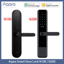 Aqara N100 & N200 Smart Door Lock Fingerprint Bluetooth Password NFC Unlock Works with Mijia HomeKit Smart Linkage with Doorbell