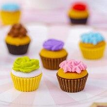6 unids/lote Mini flor pastel goma divertido de regalo Premio Oficina suministros de papelería de la escuela