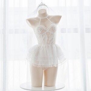 Image 2 - Angel บัลเล่ต์สาวลูกไม้ดูผ่านชุดชั้นในชุดชั้นในชุดเซ็กซี่ Lolita Cosplay งานแต่งงานชุดตาข่ายชุดชั้นใน Exotic เครื่องแต่งกาย