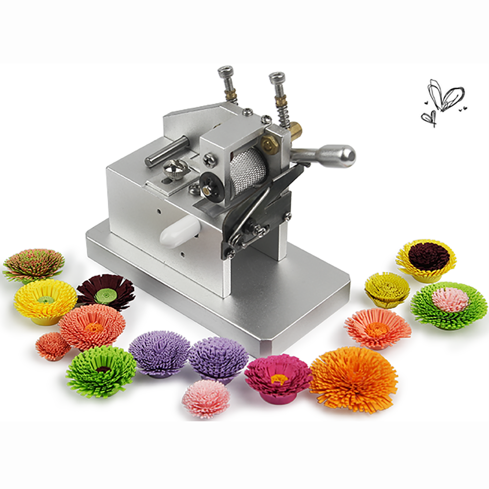 DIY Manual Paper Quilling Machine Paper Art Tassel Machine 3D Handmade Color Paper Cutting Roll Machine Paper Flower Making Tool