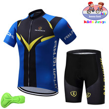 2019 Kids Breathable Cycling Jersey Set boy Summer Children Cycling Clothing Ropa Ciclismo Quick Dry Bike Jersey Bicycle Clothes стоимость