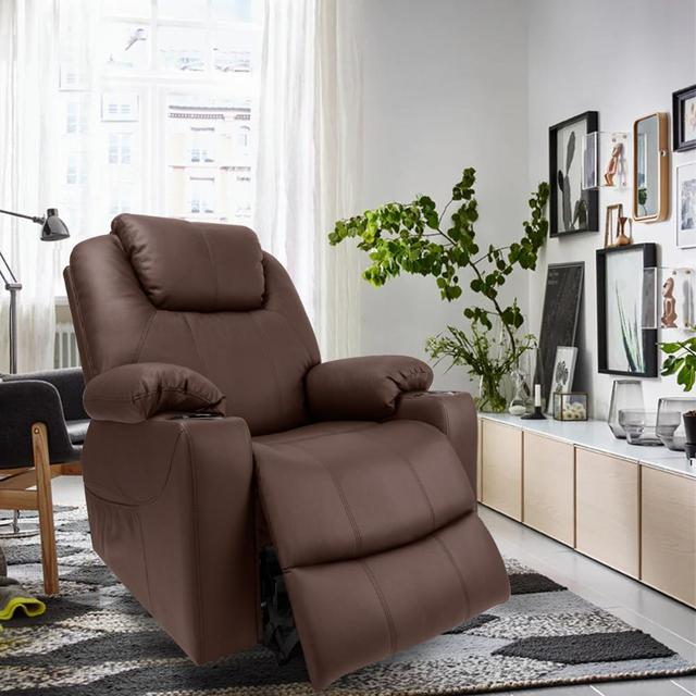 Leather Massage Chair w/ Power Lift  6