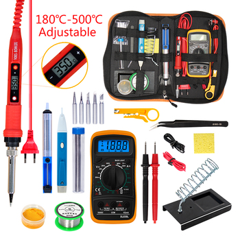Temperature Electric Soldering Iron Kit 110V 220V 80W Soldering Iron Kit With Multimeter Pump Welding Tool Kits