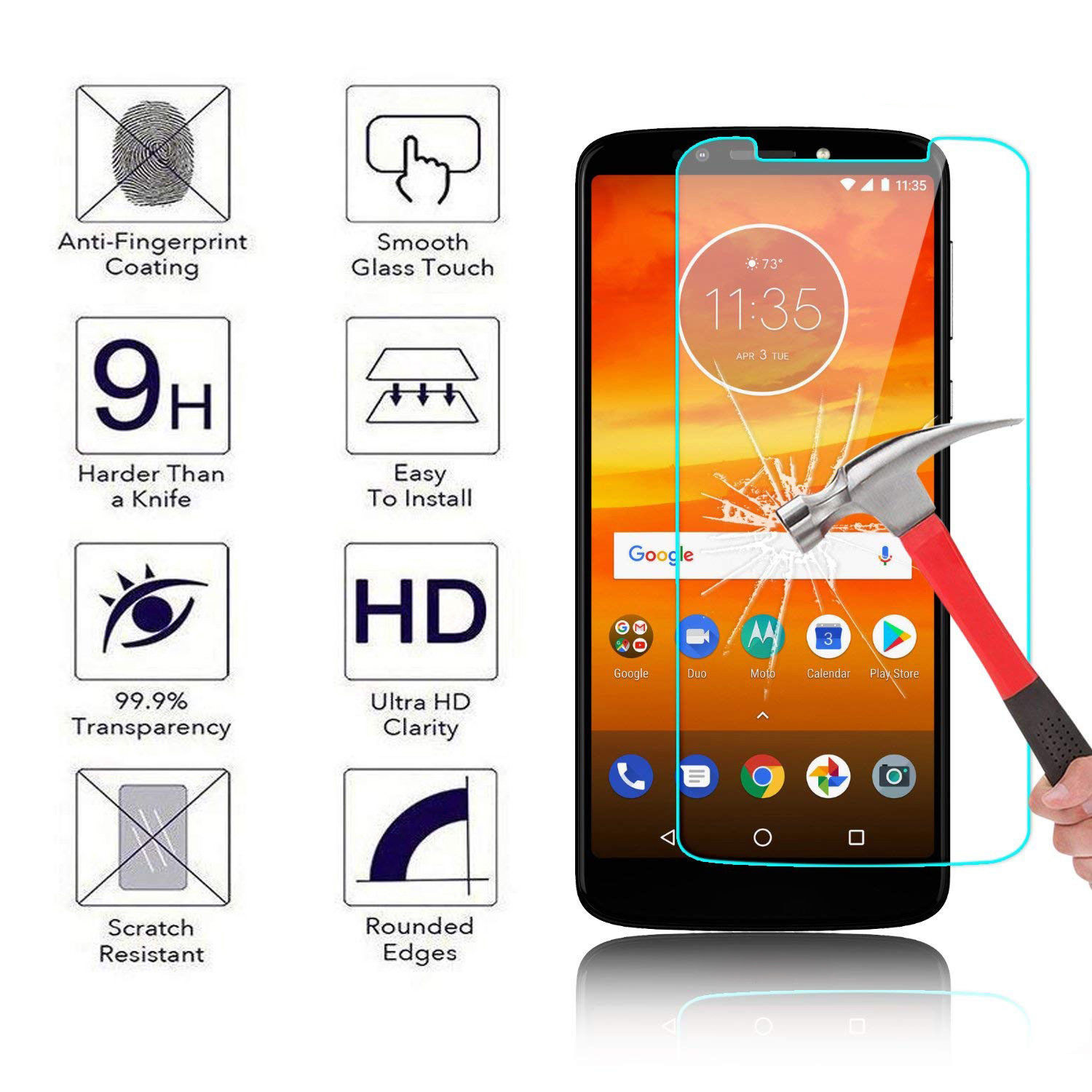 9H Tempered Glass For Motorola Moto E5 G6 G7 Play G7 Power Screen Protector For Moto Z2 Play E4 G6 G7 Plus Protective Film Glass image