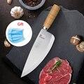 Deng messer Chinesische kochmesser küchenmesser edelstahl gemüse hackmesser metzger boning fleisch messer handgemachte holz griff Küchenmesser Heim und Garten -