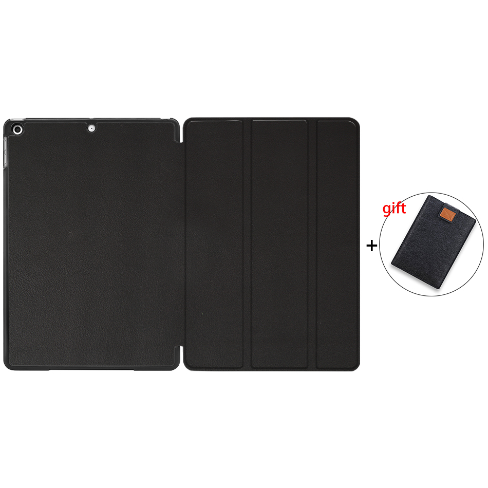 Black Gold MTT Tablet Case For iPad 10 2 inch 7th 8th Generation 2019 PU Leather Flip Stand