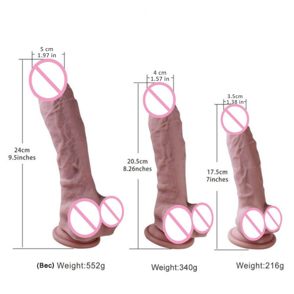 Realistic Penis Odorless Dildos Flexible Penis Strong Suction Cup Dick Safe and Health FDA Mark Sex Toy for Women