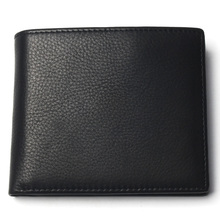 Men Short Wallet Pure Black Color With Card Page Cheap 100% Genuine Leather Wallet For Man Coin Purse Card Holder
