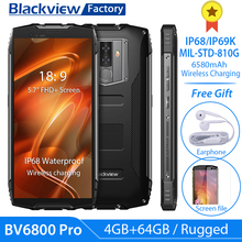 """Blackview BV6800 Pro IP68 IP69K Rugged Smartphone 5.7 """"FHD 4GB + 64GB 16.0MP Del Telefono Mobile MT6750T Octa core Android 8.0 NFC 4G"""