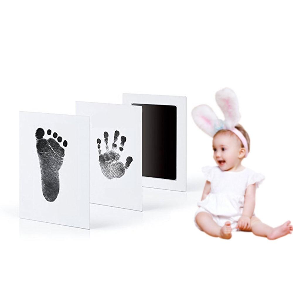 Newborn Photo Hand Foot Print Pad Keepsake Baby Handprint Footprint Mold Pad Safe Easy To Clean No Mess Non-Toxic Ink