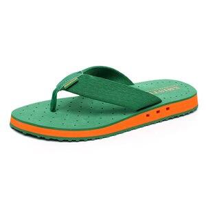 Image 5 - באיכות גבוהה החלקה גדול גודל כפכפים גברים קיץ חוף כפכפים גברים מותג אופנה לנשימה מזדמנים גברים נעלי בית שחור