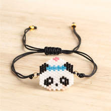 Shinus 10pcs/lot Miyuki Bracelet kungfu Panda Bracelets Women Bileklik Jewelry Child Girl Pulseras Mujer 2019 Handmade