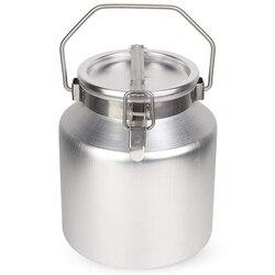5 litrów  ze stopu aluminium ze stopu aluminium zbiornik na mleko  ze stopu aluminium ze stopu aluminium zbiornik na mleko z zamkniętą pokrywa może transportu mleka fermentacji beczki w Wiadra od Dom i ogród na