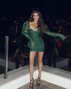 Image 3 - Meqeiss, новинка 2019, Осеннее мини кружевное Бандажное платье, женское сексуальное платье с открытой спиной, винтажные облегающие вечерние платья, элегантные платья  платье  бандажное платье  платье с открытой спиной