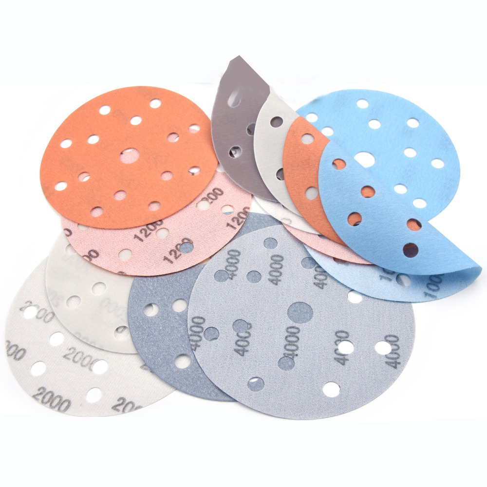 7pcs Polisher Sand Paper 6inches 150mm 15 Hole FV Ultra Fine Wet Dry Hook Loop Sanding Discs Wood Polishing Sandpaper