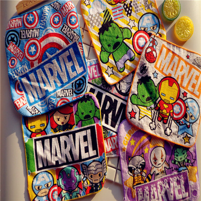 New Hot Small Square Towel Cartoon Boy Cartoon Character Of Cotton Square Towel Small Towel Hand Towel