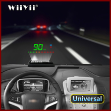 すべての車と互換性速度プロジェクターgpsデジタル車スピードメーターA2 エレクトロニクスヘッドアップディスプレイ自動hudフロントガラスプロジェクター