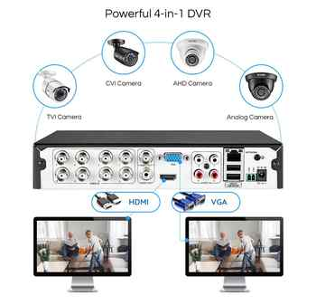 ZOSI 8ch video surveillance 720P 1080N AHD TVI Security System DVR Kit with Waterproof Nightvision street camcorder CCTV Camera