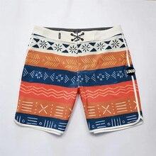 Полосатые шорты для катания на доске Мужские Пляжные шорты из спандекса, мужские бермуды 2020, мужские водонепроницаемые пляжные шорты, быстр...