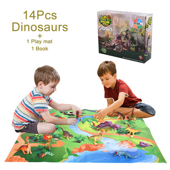 New Educational Game Carpet Dinosaur Simulate The World's Mountains Rivers Static Model Unisex Play House Toys Baby Crawl Mat