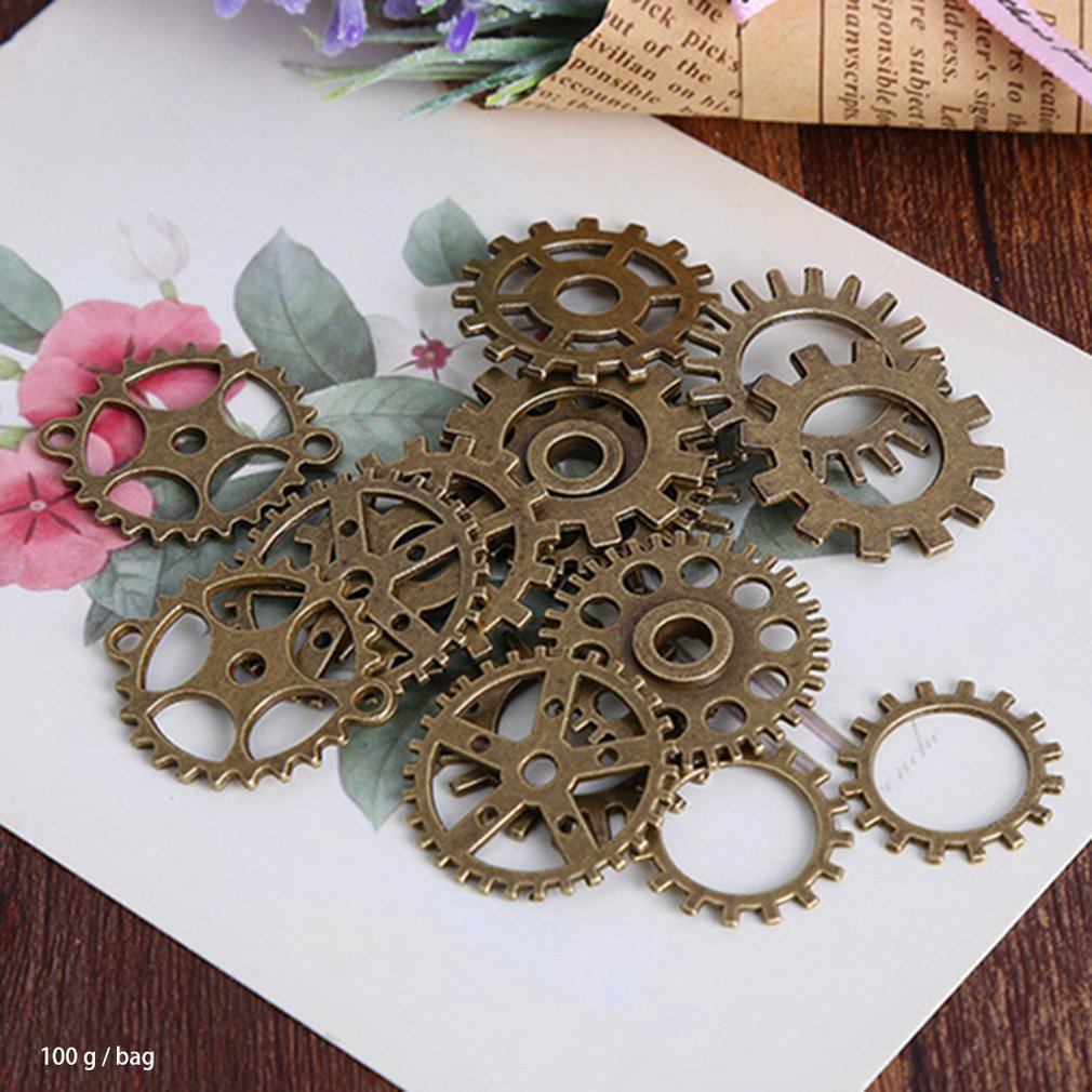100G/Bag Durable Use Mix Styles Metal Steam Punk Steampunk Gears Diy Alloy Jewelry Accessories Diy Accessories