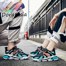DORATASIA New 35-44 INS Trendy Lovers Colorful Mesh Sneakers Women 2019 Autumn Breathable Dad Shoes Platform Woman Flats