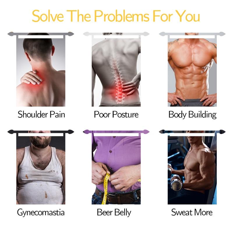 Men's Waist Trainer Tank Tops Weight Loss Workout Sauna Sweat Vest