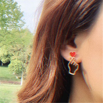 Heart Hand Earrings