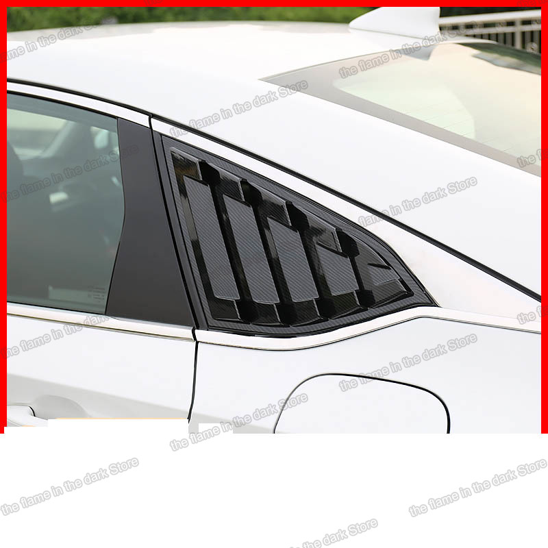 Lsrtw2017 Abs Car Rear Window Triangle Shutter Panel for <font><b>honda</b></font> <font><b>accord</b></font> <font><b>2018</b></font> 2019 2020 10th <font><b>2018</b></font> 2019 2020 Carbon Fiber auto image