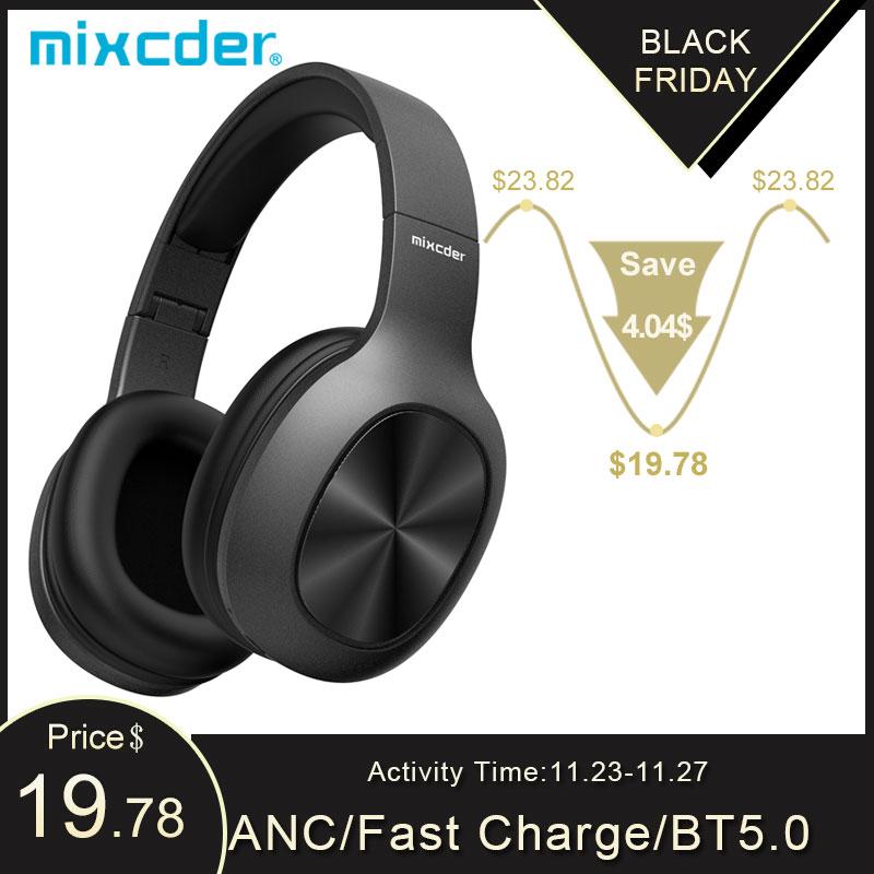 Беспроводные наушники Mixcder HD901, Bluetooth 5,0, TF карта, Накладные наушники с микрофоном для спорта, музыки