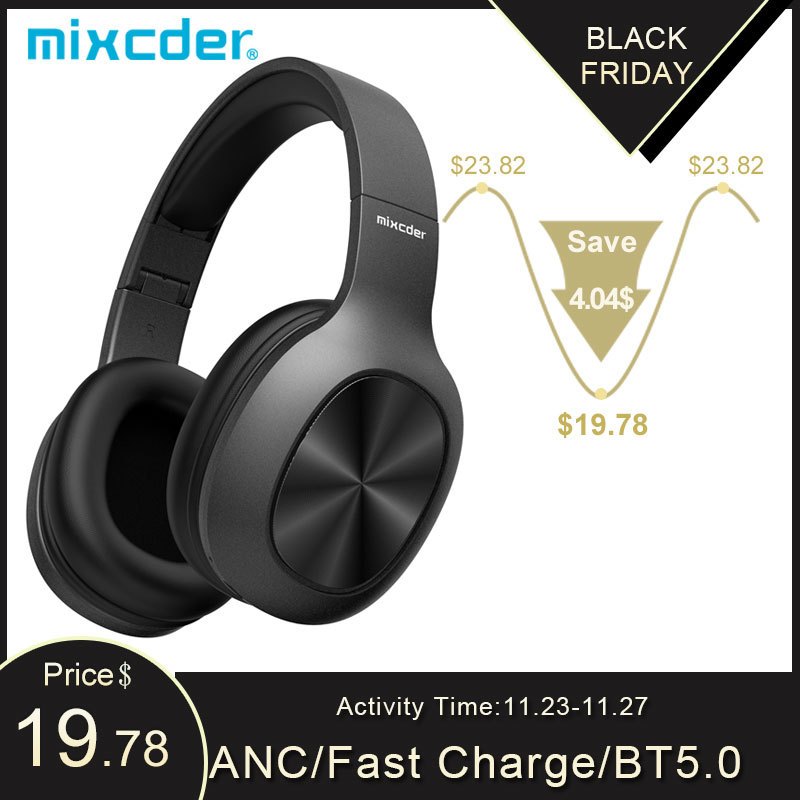 Mixcder HD901 Headphones Wireless Bluetooth 5.0 TF Card Headset Over Ear  Earbuds with Microphone for Sports Music Earphones