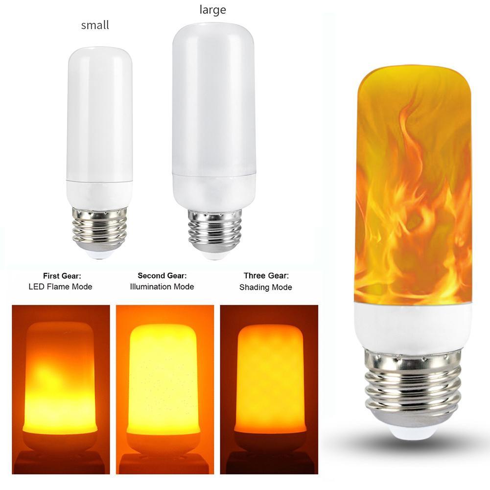 E26 LED Simulation Flame Light 3 Modes Effect Fire Light Bulbs Corn Bulb Creative Flickering Emulation Decor LED Bulb Lighting L