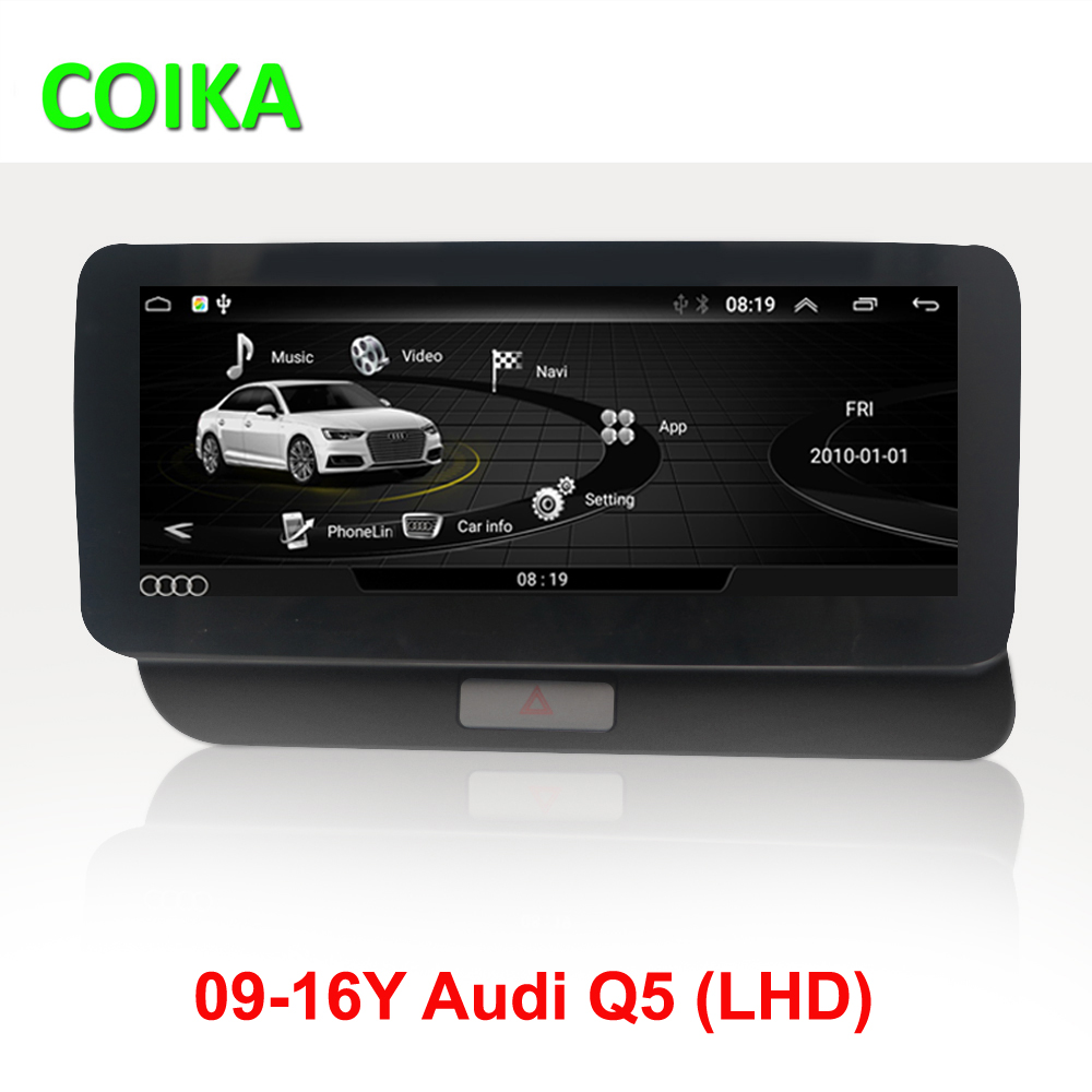 COIKA Android 10 System Car Head Unit GPS For Audi Q5 2009-2016 Google SWC BT WIFI Multimedia Player 2+32G RAM IPS Touch Screen