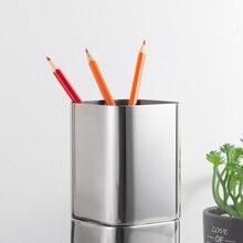 Держатель для карандашей, держатель для кистей для макияжа толщиной 1,2 мм SUS304, глянцевый держатель для ручек из нержавеющей стали(серебро