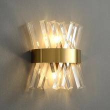 LED Wall Lamp for Bedside Bathroom Mirror Stairs Living Room Decoration Postmodern Interior Lighting Glass Wall Sconce