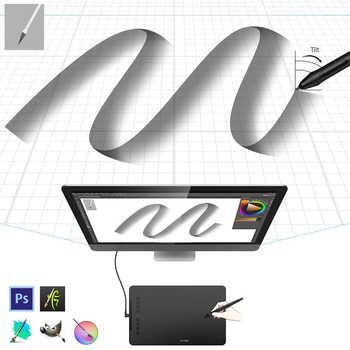 XP-ペン Deco01V2 グラフィック描画タブレット、超薄型 (8 ミリメートル) 8192 レベルチルト保護フィルムアートアニメーション子供
