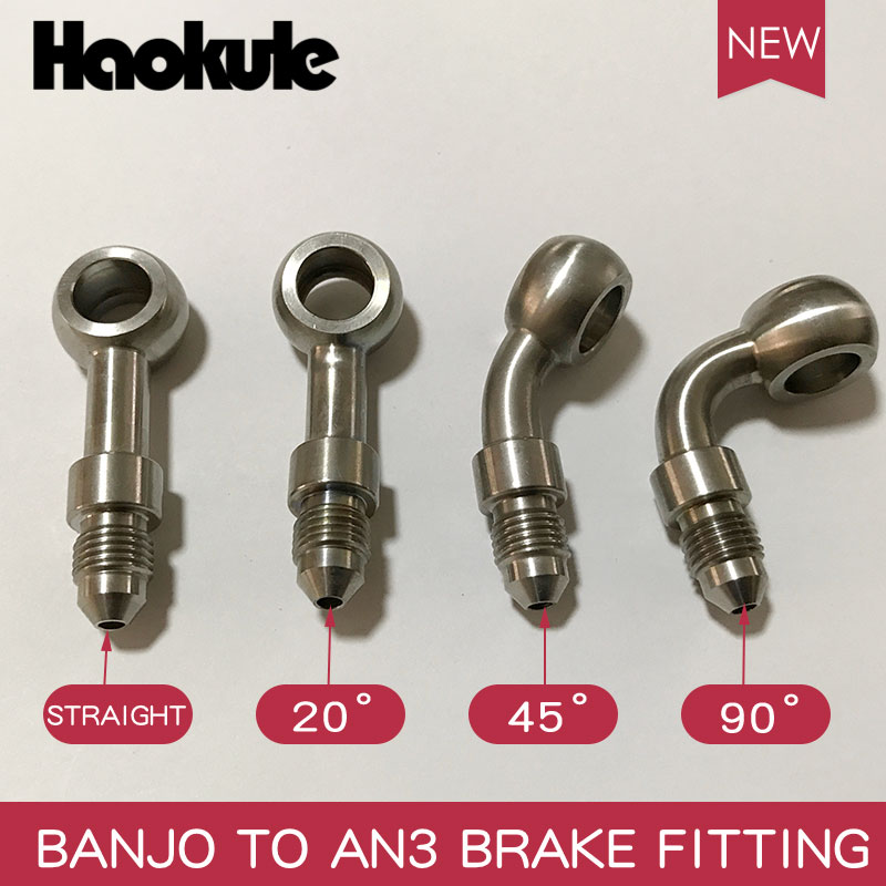 HAOKULE End-Fitting Ptfe-Hose BANJO AN3 Stainless-Steel TO MALE TEFLON title=