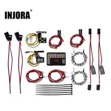 Sistema de luz de led ninja, grupo de lâmpadas frontal e traseiras para carro rc 1/10 traxxas trx4 bronco 82046 4